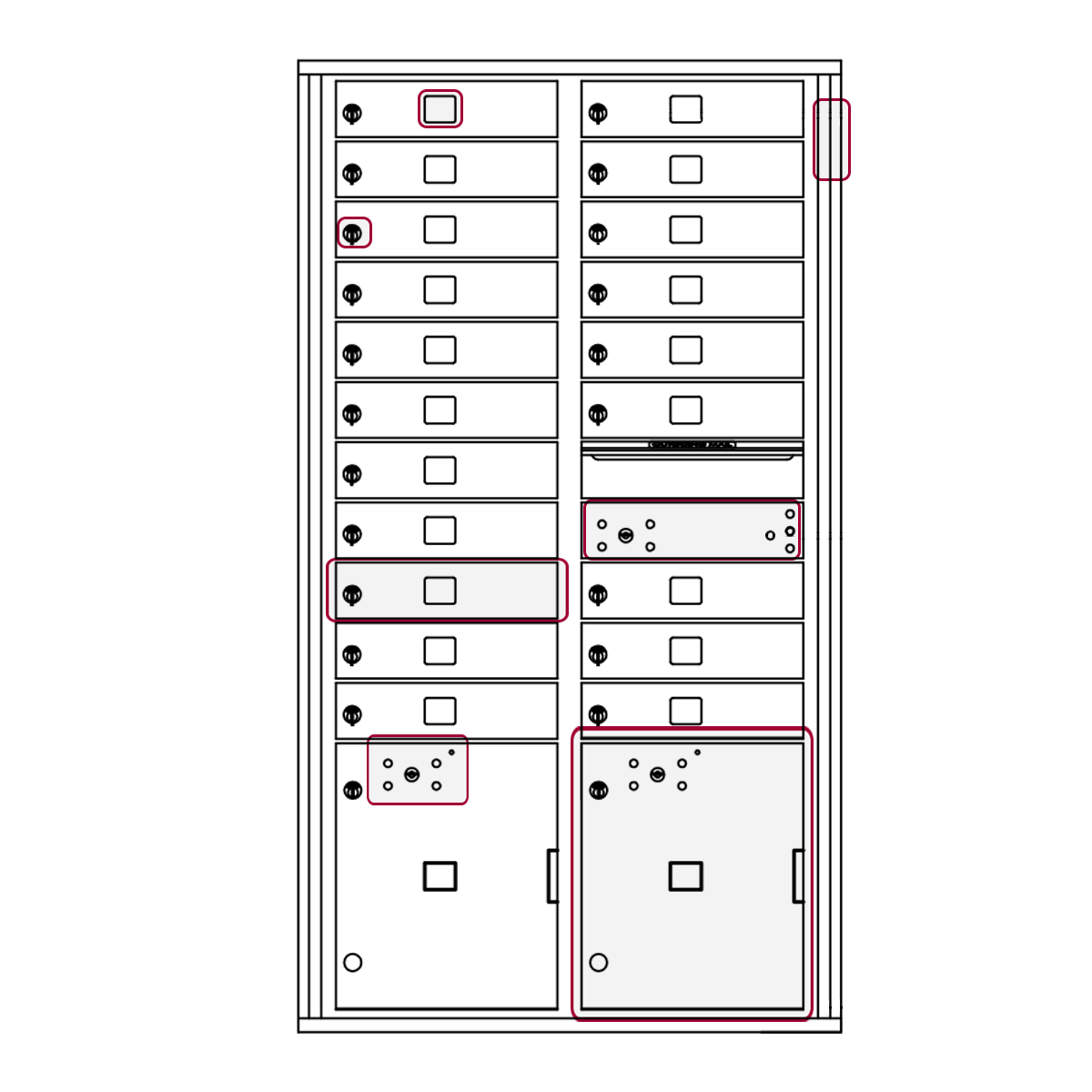 Mailbox Key Diagram Trusted Wiring Diagrams 1999 F350 Fuse Box Parts List Std 4c Mailboxes Florence Rh Florencemailboxes Com Cab Panel