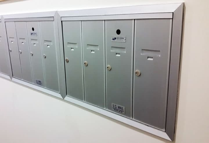 1250 Vertical Recessed Mount Mailboxes