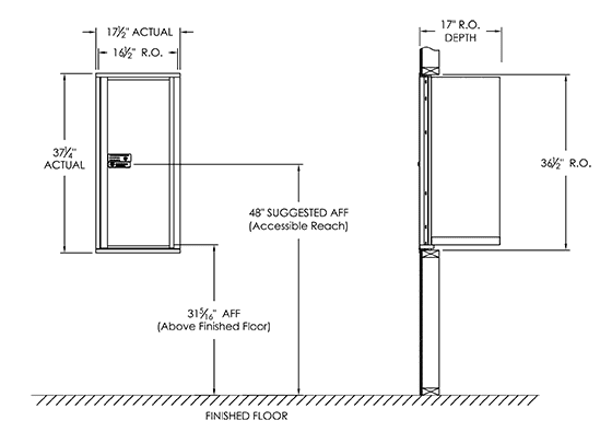 package lock box dimensions