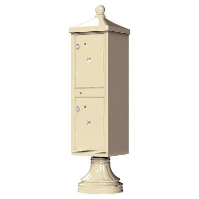 1590-T1V2 Outdoor Parcel Locker with Vogue Accessory in Sandstone
